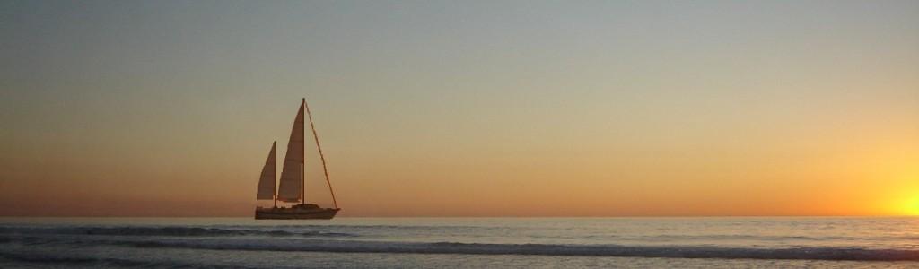 Sailboat aiming to light